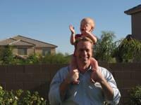 I love it when Daddy spins me around!