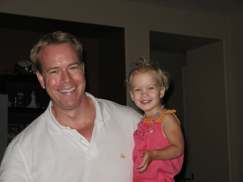 Check out my cute 1950's hairdo, with Daddy!