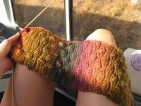 Trains are good for knitting.