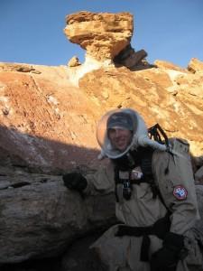Dakota sandstone at the foot of Olympus Mons