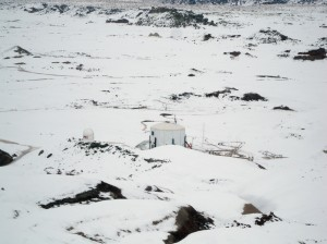 The Hab as seen from Radio Ridge