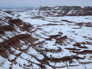 The Turtle Hills covered in snow