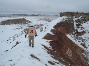Darrel crosses the ridge