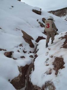 Darrel in the gully