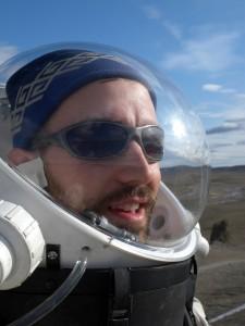 Brian on EVA at FMARS on Devon Island, Canada