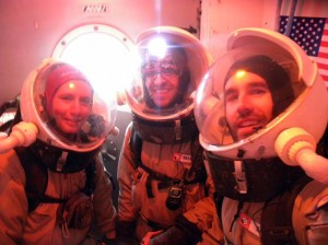 Darrel, Luis, and Brian in the airlock