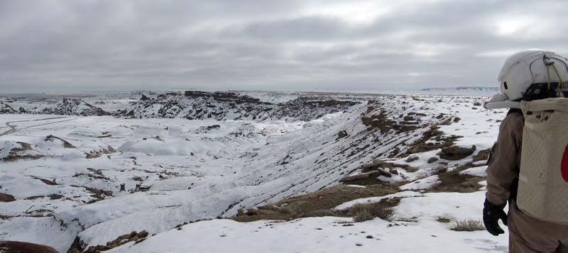 panorama overlooking Radio Ridge