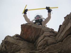 Mike doing his Star Wars sandpeople impersonation