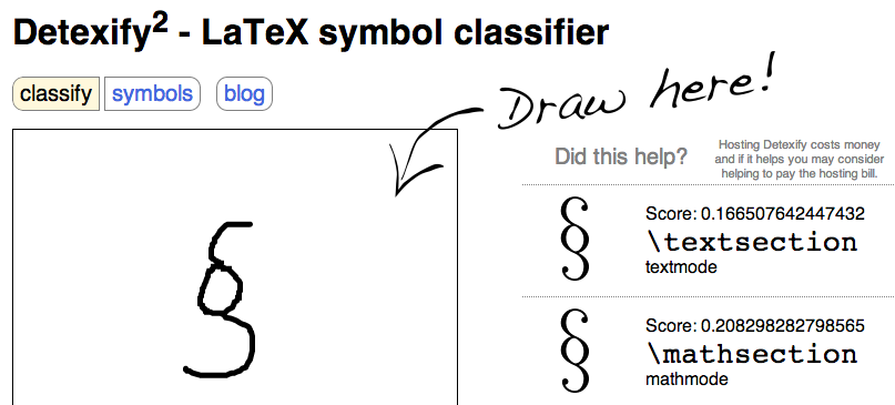 What I Learned Today Look Up Latex Symbols By Drawing