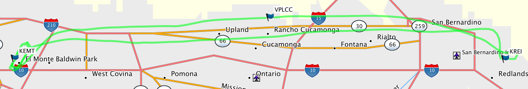 Redlands route