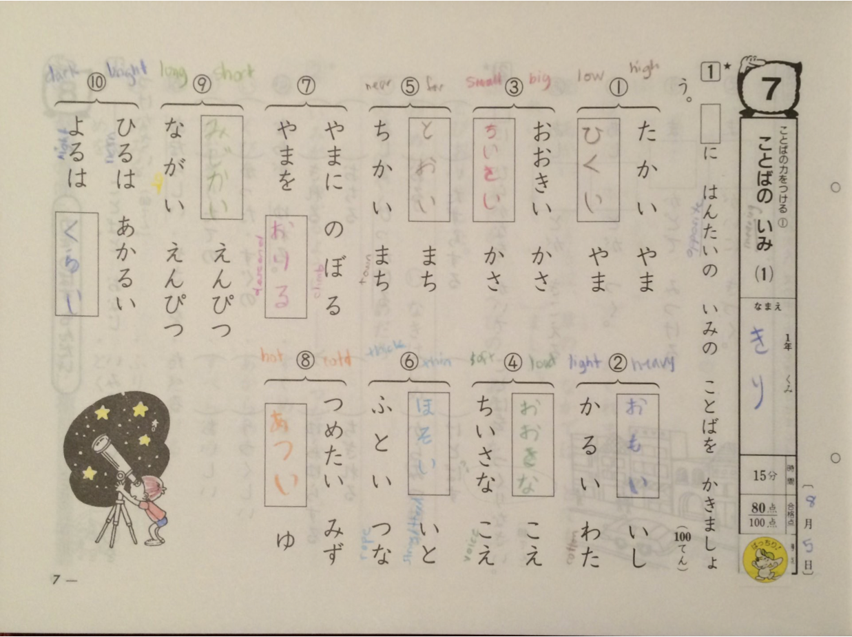 What I Learned Today » Learn Japanese writing from a native child\'s ...